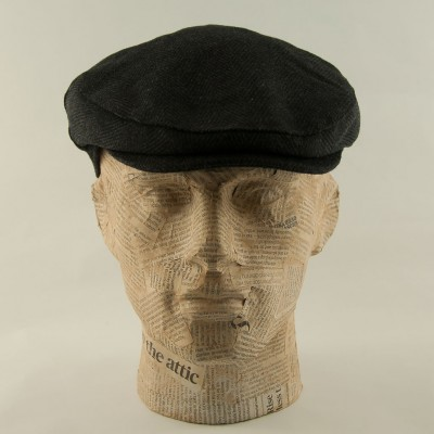 Tweed-flatcap-Black-Whiteley