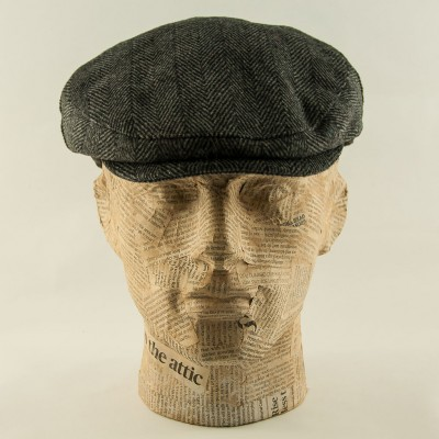 Tweed-flatcap-Charcoal-Whiteley