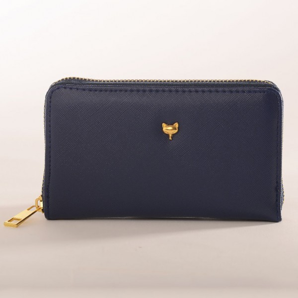 Zip-around-purse-navy-Foxy