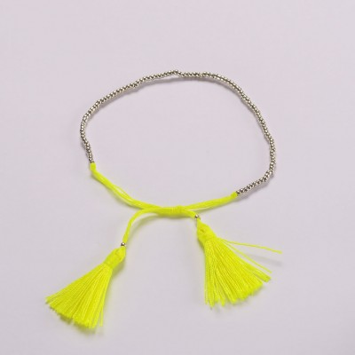 Beaded-braid-bracelet-Neon-yellow-Amadoria