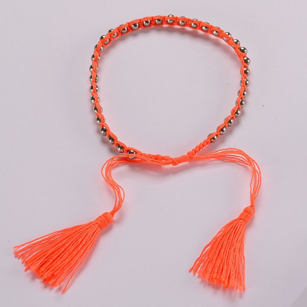 amadoria neon orange friendship bracelet