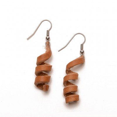 handmade leather earrings allorigas