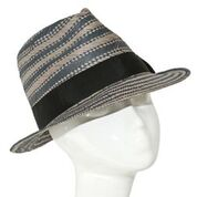 Grey/ blue paper trilby