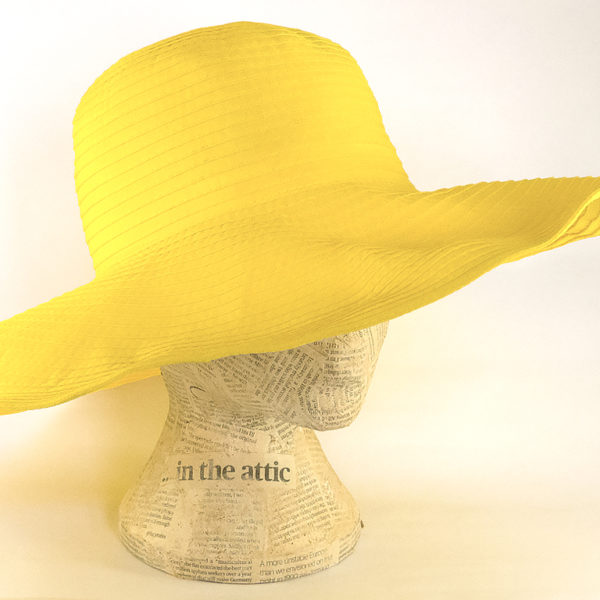 Yellow floppy sunhat