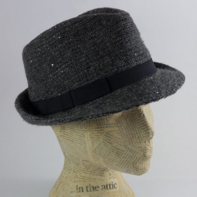 Charcoal sequin trilby
